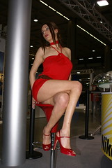 photoshow model (themax2) Tags: model legs milano hostess miniskirt 2009 photoshow promoter microskirt heighheels