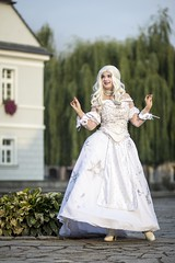 Alice in Wonderland (Xubaet) Tags: beautiful female costume dress cosplay outdoor longhair poland queen fantasy aliceinwonderland  silesia 2015 ballgown balldress whitequeen lowersilesia dolnylsk cosplaying wle victorianage cosplaygirl fotocon miranaofmarmoreal