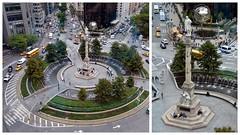 Construit avec les fonds recueillis par Il Progresso, un journal de langue italienne base  NYC , le monument se compose d'une statue de marbre de Christophe Colomb au sommet d'une colonne rostrale de 21 m en granit, ... (Barbara DALMAZZO-TEMPEL) Tags: nyc manhattan columbuscircle centralparksud