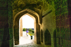 Golconda fort, Hyerabad, India (Raji PV) Tags: door light umbrella garden arch fort hyderabad golconda raji philipose rajipv