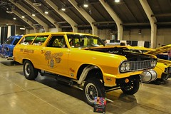 3rd Annual Street Machine & Muscle Car Nationals (USautos98) Tags: chevrolet wagon chevy hotrod custom streetrod 1965 gasser 2door
