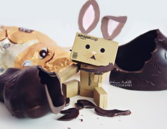 Happy Easter (Katha.*) Tags: food easter yummy chocolate foodporn prank easterbunny darkchocolate easteregg danbo foodgasm danboard danbomini