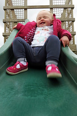 Slip Sliding Away (Jon Pinder) Tags: playing playground canon fun child slide powershot s100 stockeldpark