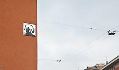 Einstein (Gerben's Photos) Tags: italy streetart milan spiegel einstein