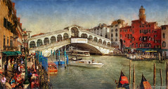 Rialto Bridge Panorama - Venice (Mike Cordey) Tags: bridge venice italy canal grand panoramic rialto