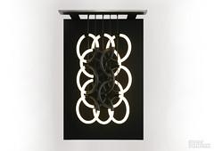 Dark Hearted (Studio Stallinga) Tags: light sculpture art dark painting movement pattern heart tube symmetry canvas rings lamps henk stallinga