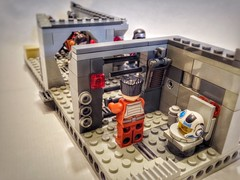 Lego Star Wars Moc: Rescue Team In First Order Base (oli.jger) Tags: starwars lego rey stormtrooper fin chewbacca resistance moc firstorder kyloren