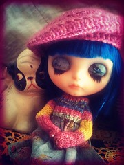 "One for Sorrow............ (melanidee ""Lace Princess"") Tags: crochet prince tribute fifi blythedoll raspberryberet cangaway maggiethemagpie fifilatrixable"