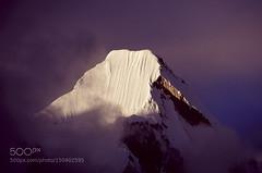 Lingtren (HoustonHVAC170) Tags: china blue nepal light sky mountain film clouds purple peak slide tibet velvia summit himalaya everest himal lingtren mahalangur
