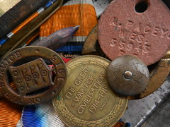Inheritance...my grandfather's war tin... (BAKAEDAR) Tags: ww1 medals inheritance macromonday