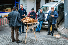 Kucukpazari 5 (aivitalejniece) Tags: street city travel blue winter people food men tourism public breakfast turkey bread lunch workers locals market eating stock culture fast lifestyle istanbul editorial males bagels turks seller income turkish supply simit