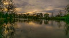 Pittville Park Sunset (Russell Discombe) Tags: park longexposure blue sunset sky lake water yellow landscape nikon sigma gloucestershire cheltenham sigma1020mm pittville 10stop pittvillepark nikond3300