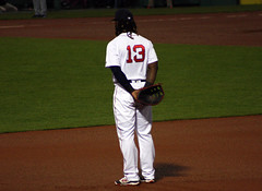 Hanley stance (ConfessionalPoet) Tags: baseball redsox glove 1b firstbase hanleyramirez firstbaseman