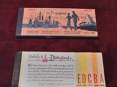 Disneyland ticket books (GMLSKIS) Tags: disney california amusementpark ticketbooks anaheim