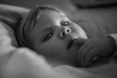 Portraits - in bed (' A r t ') Tags: family people blackandwhite bw girl monochrome ava denmark mono blackwhite bed raw child no daughter indoor stare awaken danishgirl cammelbeeck arthurcammelbeeck artcammelbeeck wwwflickrcomphotosartcammelbeeck camelendk