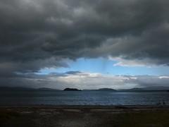 Window in the weather (Fraser P) Tags: sea newzealand beach weather cafe harbour wellington petone lowerhutt