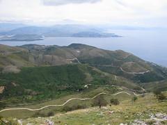 20150526_133756LC (Luc Coekaerts from Tessenderlo) Tags: road sea seascape public landscape hill nobody greece creativecommons winding corfu plain seaview eastcoast vak grc windingpath pantokrator cc0 karousades palaichoro coeluc vak201505corfu