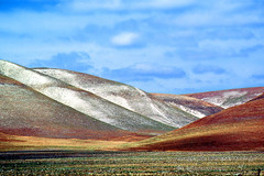Painted  Hills at Carrizo Plain National Monument (Vern Krutein) Tags: california travel usa nature landscape scenery natural archives historical wilderness southerncalifornia scenes scenics carrizoplainnationalmonument geoform geologicalform npsv03p0704