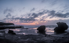 6 points later (lionpool) Tags: panorama seascape sunrise easter landscape nikon colours sydney australia d90 narabeen turrimetta weenkend
