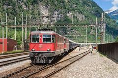 SBB Re 4/4 II 11134 & 11150 with Orient Express, Lavorgo, 19-6-2015 (mch68) Tags: schweiz switzerland europe rail sbb ffs zwitserland cff re44ii electriclocomotive schweizerischebundesbahnen lavorgo tripchl2015
