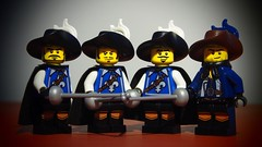 All for one, one for all! (legophthalmos) Tags: dumas lego dartagnan alexandre musketeers athos aramis portos