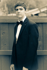 Prepping for Prom night (mickeyboy2008) Tags: portrait bw white black guy portraits canon pose formal prom tuxedo portraiture gown eveninggown highschoolprom