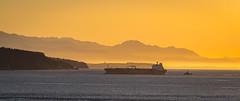 Entering Puget Sound at Sunset.jpg (Eye of G Photography) Tags: sunset usa places whidbeyisland northamerica pugetsound washingtonstate sunsetsunrise fortcasey gunimplacements