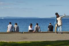 Poor lonely guy in black (photodesignch) Tags: ocean seattle sea beach water waterfront pentax takumar outdoor super adapter alki alkibeach limited smc pentax67 pentaxfa 4319 7718 10524 sonya7 pentaxfasmc7718limited pentaxfasmc4319limited p645k