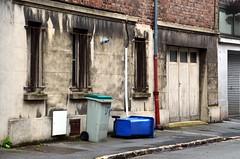 Bleak House (Jean-Luc Lopoldi) Tags: street garage sidewalk triste dickens rue faade poubelle trottoir arras moche tipped renverse vtuste