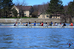 IMG_8665April 17, 2016 (Pittsford Crew) Tags: city skyline rochester crew rowing geneseeriver pittsfordcrew