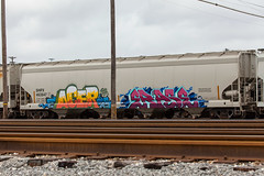 (o texano) Tags: by bench graffiti texas houston trains acer erase freights gns benching