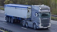 MV15 RCZ (panmanstan) Tags: truck wagon motorway m18 yorkshire transport lorry commercial vehicle scania bulk langham r580