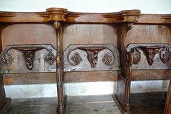 Blakeney - St Nicholas - Choir Stalls (Glass Angel) Tags: church norfolk inside woodcarvings choirstalls misericords blakeneystnicholas