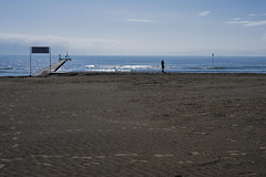 Footprints (miroslav0108) Tags: italy sunshine grado sandybeach personswalking