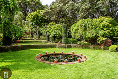 Filoli Gardens California-Central-Coast 2016-04-21 (randyandy101) Tags: flowers trees sky plants brick green water pool grass garden pond lawn brickwall englishgarden filoligardens pottedflowers