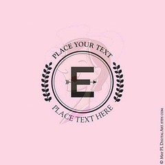 The letter 'E' in the sans serif alphabet laurel wreath circle frame range #sansserif #alphabet #laurel #wreath #circle #frame https://goo.gl/j1Byxb (maypldigitalart) Tags: circle wreath frame alphabet laurel sansserif