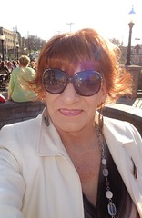 Mingling With The Hoi-Polloi (Laurette Victoria) Tags: woman sunglasses redhead jacket wauwatosa laurette