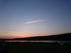 Sunset8 (modestmoze) Tags: pink blue trees sunset sky people orange white black nature wet water grass clouds forest river outside outdoors grey evening treeline lithuania 2015