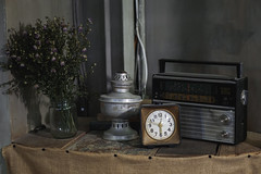Dear Mr. Old Time (iSam's) Tags: old alarm clock radio vintage time faded boombox cassette fashioned 2016 isam
