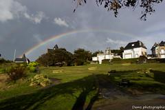 Over the sky (funnyfrenchie) Tags: en france canon eos rainbow arc bretagne shy breizh ciel 17 28 55 dinard dams lightroom bzh 600d funnyfrenchie