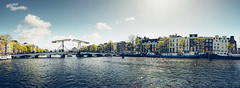 Amsterdam at its best (Jannes Glas.) Tags: bridge water amsterdam river landscape boot cycling canal theater sailing waterfront outdoor canals magerebrug brug amstel gracht canalhouse carre varen magere adameneva sloepdelen
