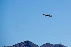 Warthog over Nellis (gorbould) Tags: airplane fighter lasvegas military jet airforce base warthog a10 thunderbolt nellis roadtrip2013