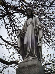 Calvary Cemetery (Gabrielle Gaia) Tags: sculpture cemetery grave graveyard statue illinois catholic madonna statues il evanston virginmary sculptures calvarycemetery catholiccemetery calvarycatholiccemetery