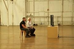 watching tv (Val in Sydney) Tags: art artwork sydney australia nsw biennale redfern australie carriageworks