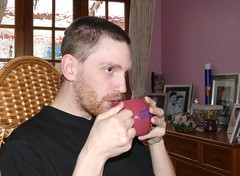 P1030608 Adam - May 2016 (Photos-Tony Wright) Tags: adam tea drink