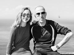 Father & Sister #2 (illescas.daniel) Tags: sea blackandwhite sister father ceuta