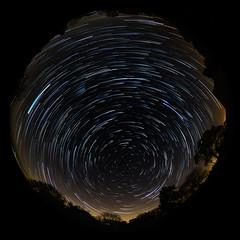 Ewhurst Green full circular fisheye star trail. (Owen Llewellyn) Tags: sky green canon stars star kent astro fisheye trail astronomy select f4l 5dmkiii 815mm owenllewellyn cygnusimaging ewhust