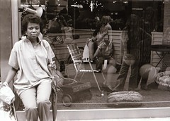 Outside Fiorucci window display (Meredith Lee) Tags: midtown 1980 59thstreet fiorucci