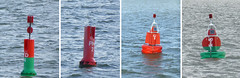 Various Dutch navigation buoys. (piktaker) Tags: holland netherlands marken buoy volendam monnikendam buoyant navigationbuoy porthandbuoy