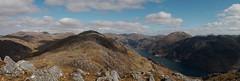 Kinlochhourn from the ridge of Druim Fada (Mumbles Head) Tags: mountains scotland highlands grahams glenelg munros corbetts